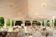 beautiful tent for a garden wedding #reception #wedding