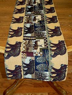 Cabin Wildlife with Bears Placemats & Table Runners
