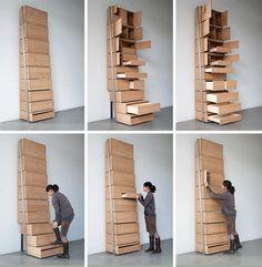 staircase under ceiling storage