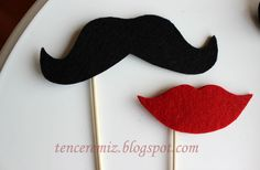 Felt moustache for the parties... i used foam but i think this would be much easier to work with!