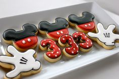 18 Mickey Mouse themed Cookies by YankeeGirlYummies on Etsy, $32.00