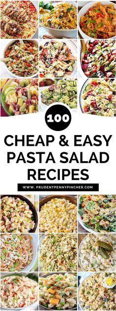 100 Cheap and Easy Pasta Salad Recipes