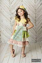 Mustard Pie Delphine Tea Party Girls Dress PREORDER