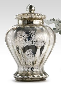 Silver Mercury Glass  ~ ♥ #glass #antiques