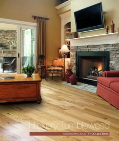 """Hickory Tumbleweed TCH-412-HT    This item is an American Grown and Harvested Hickory that has been selected for its """"Rustic"""" character. With lots of variation in color, grain and texture from plank to plank, which is a very """"sought after"""" look. This is a great choice for the home that gets a lot of heavy traffic, especially from kids and pets."""