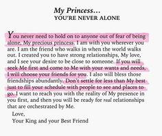 My Princess you'e never alone...
