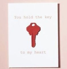 Valentine's Day Cards with Keys