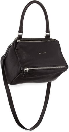 Givenchy Pandora Sugar Small Leather Shoulder Bag, Black Givenchy Handbags,  Black Handbags, Leather f7d2874ebe
