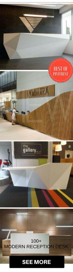 100+ Modern Reception Desks Design Inspiration #reception #desk #office #ideas #photos #creative