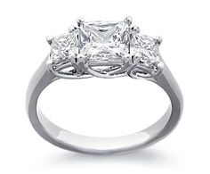 Blue Nile 3-stone princess cut. I love this one. I might love this one the best!
