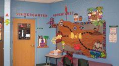 Aargh you ready for a kindergarten adventure? Classroom Welcome, Beginning Of The School Year, Kindergarten, Walls, Adventure, Kindergartens, Adventure Movies, Adventure Books, Preschool