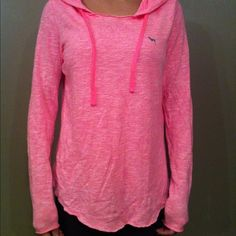 "Flash sale Victoria's Secret PINK Hoodie Sweater Marled pink and white colored very lightweight hooded sweatshirt. Very soft and extremely comfortable with a rounded hem. Like new. Measurements are taken with item laying down flat & are approximate, but I try my best. Length  24.9"", sleeves 24.3"", sleeve opening 3.25"", width 18"". Machine washable 60% cotton, 40% polyester. PINK Victoria's Secret Sweaters"
