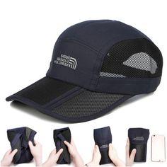 cdde805e Summer Quick-dry Breathable Mesh Baseball-Caps Foldable Thin Outdoor  Sunshade Cap For Men Women - Banggood Mobile