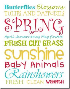 spring subway art - free printable