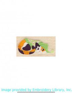 Stickmotiv Stickbild Aufnäher Stickerei Emblem Calico  Calico /  Stickerei Calico in Pajamas (D3675)