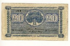Finland 20 mark note of 1945