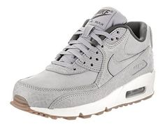 best website 78e96 9685b Nike Women s Air Max 90 Prem Wolf Grey Wolf Grey Sail Running Shoe 8 Women  US, Size  8 B(M) US, Blue