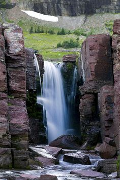 Triple Falls Glacier National Park by Rich Franco Glacier National Park Montana, Glacier Park, Oh The Places You'll Go, Places To Travel, Places To Visit, Outside Magazine, Destinations, Big Sky Country, Beautiful Waterfalls