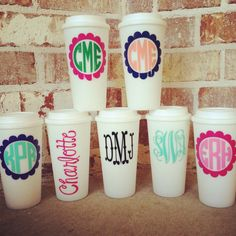 Personalized Insulated Plastic Coffee Tumbler by Dawlens on Etsy, $10.00