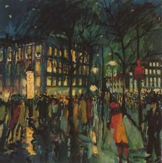 The Hague, Night ~ George Martens ~ Dutch, (1894-1979) ~ Oil on canvas