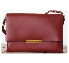 Céline Red Blade Flap Bag Crossbody