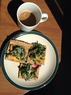 Kale and pepper flat bread