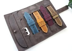 Watch strap roll Genuine Leather Watch Roll Watch Pouch watch