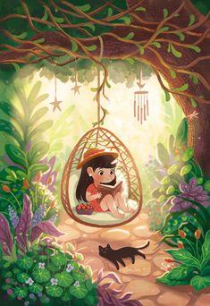 Pretty Art, Cute Art, Art Plastique, Cute Illustration, Cute Drawings, Cartoon Art, Fantasy Art, Book Art, Anime Art