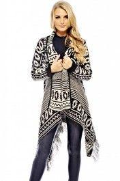 Tassel Aztec Hang Cardigan