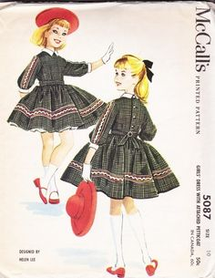 1959 #Vintage Girl's dress designer Helen Lee