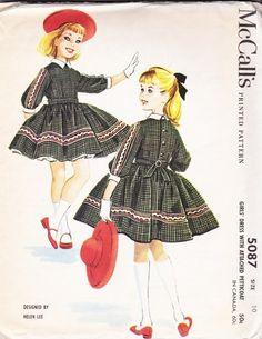 1959 #Vintage Girl's dress designer Helen Lee