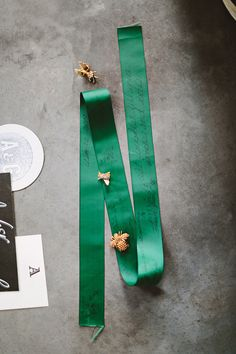 emerald ribbon // photo by Pat Furey // http://ruffledblog.com/wythe-hotel-brooklyn-elopement