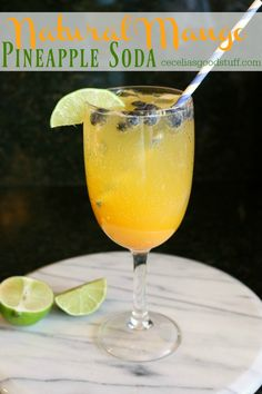 Natural Mango Pineapple Soda