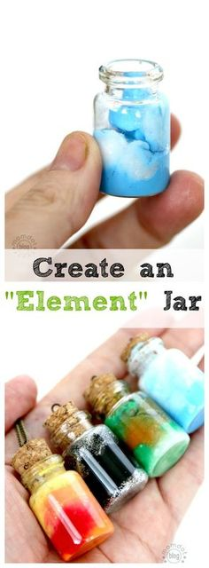 Element Jars: Create Sun, Moon, Earth, and Sky in these fun DIY Element Jar…