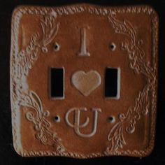 Personalized victorian wall switch plate ,hand carve on ceramic,handma