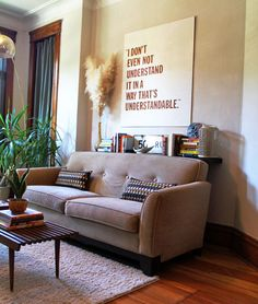 Apartment Therapy- I love the sign :)
