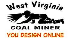 Coal mining coal miner vinyl decals decal tee shirts shirt