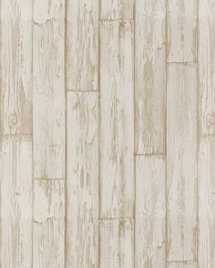 An authentic design featuring a photo finish effect of wooden planks and peeling paint shown here in white wood. http://www.wowwallpaperhanging.com.au/wood-wallpaper-sophie-and-dales-scrapwood-wallpaper-from-the-block/