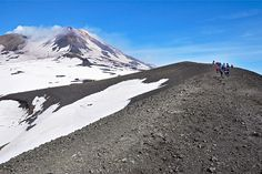 Atop the slopes of Mt. Etna, Europe's highest active volcano.