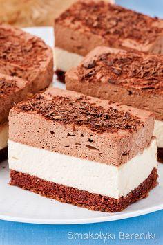 Ciasto chałwowe z masą czekoladową