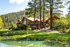 Luxury Log Homes | Luxury log home near Darby up for auction