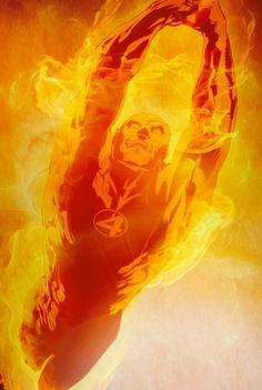 Johnny Storm, the Human Torch - Artist: Carlos Cabral Marvel Comics Art, Marvel Comic Books, Marvel Heroes, Comic Books Art, Marvel Dc, Comic Art, Book Art, Gi Joe, Fantastic Four Comics