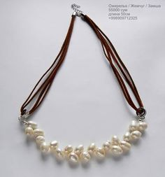 Necklace ,freshwater pearls ,suede  #jewelryForSale #naturalpearls #pearl #jewelry #tashkent #handmade #жемчуг #стиль #ташкент #мода #натуральныйжемчуг #разумныецены