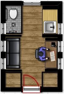 Awe Inspiring 8 X 19 Tiny House Floor Plans With Loft Above Stairs Or Largest Home Design Picture Inspirations Pitcheantrous