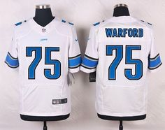 NFL Jerseys Nike - Nike Detroit Lions #81 Calvin Johnson Light Blue/White Fadeaway ...