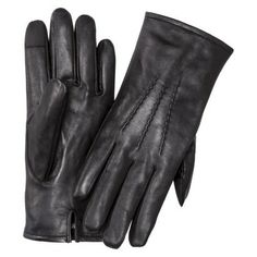 Merona® Men's Leather Smart Touch Gloves - Assorted Colors // Jeff (xl) black