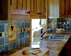 Frank Lloyd Wright March Balloons Kitchen : March Balloons art tile from Motawi's Frank Lloyd Wright Foundation collection complement this colorful kitchen backsplash. Craftsman Style Kitchens, Craftsman Tile, Craftsman Homes, Kitchen Colors, Kitchen Backsplash, Kitchen Design, Backsplash Ideas, Tile Ideas, Kitchen Models