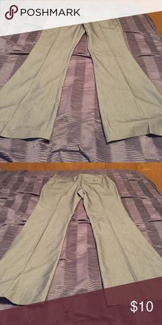 BCBGeneration pants Size 12, charcoal gray with pin strips BCBGeneration Pants Boot Cut & Flare