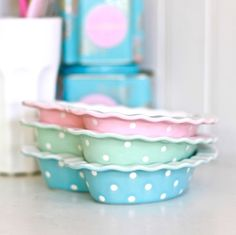 Bonkers About Baking Feel Good Pictures, Rainbow Kitchen, Pink Bowls, Yellow Cups, Pastel Kitchen, Pie Plate, Homemade Ice, Everything Pink, A Pumpkin