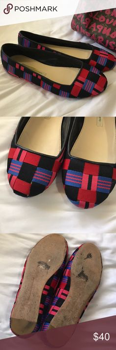 Diane von Furstenberg woven ribbon ballet flats Great personality and classic styling. Good used condition Diane Von Furstenberg Shoes Flats & Loafers